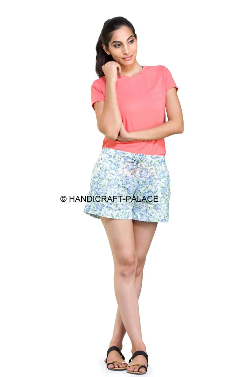 Indian Club Hot Shorts Fashion Summer Women's Shorts Floral Printed Short  Pants