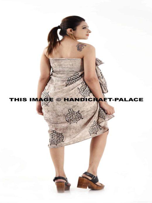 b758128511c3f Indian Handmade Cotton Pareo Sexy Bikini Sarong Turtle Beach Wear Cover Up  Hand Block Print