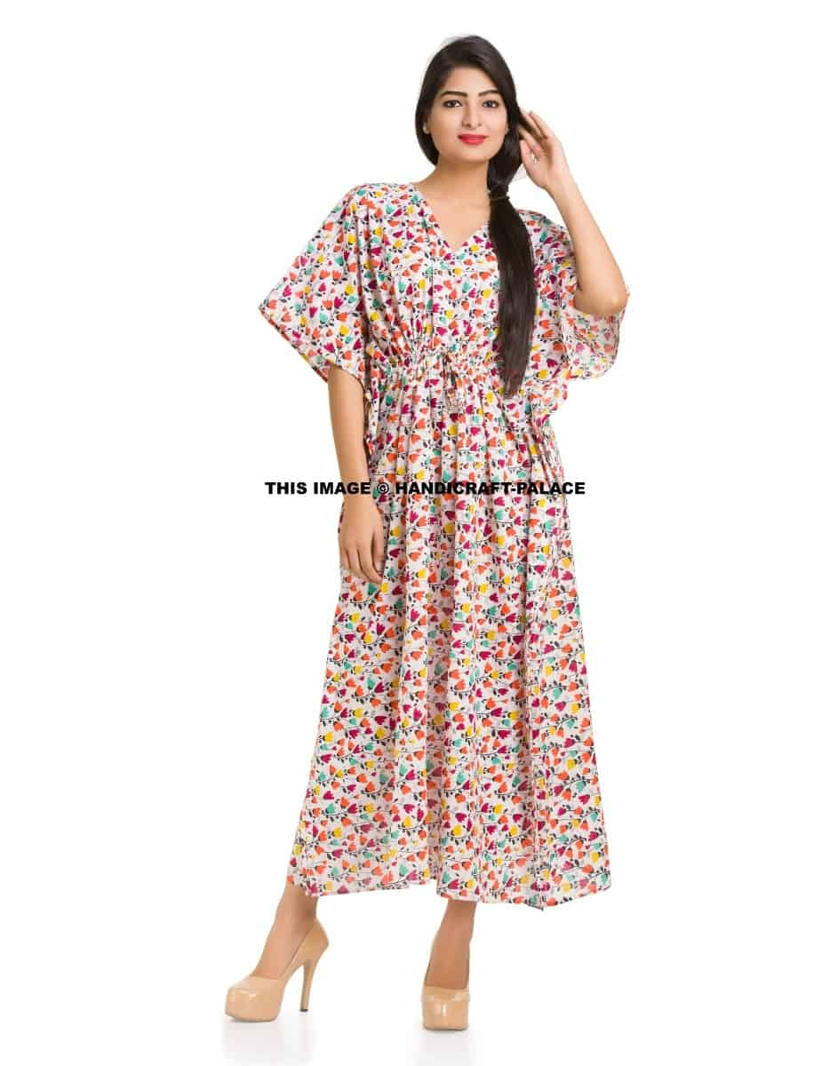 4f2cbbe9e380b Casual Plus Size Maxi Kimono Sleeve Linen Women's Long Dress Gown kaftan  Caftan - Handicraft Palace