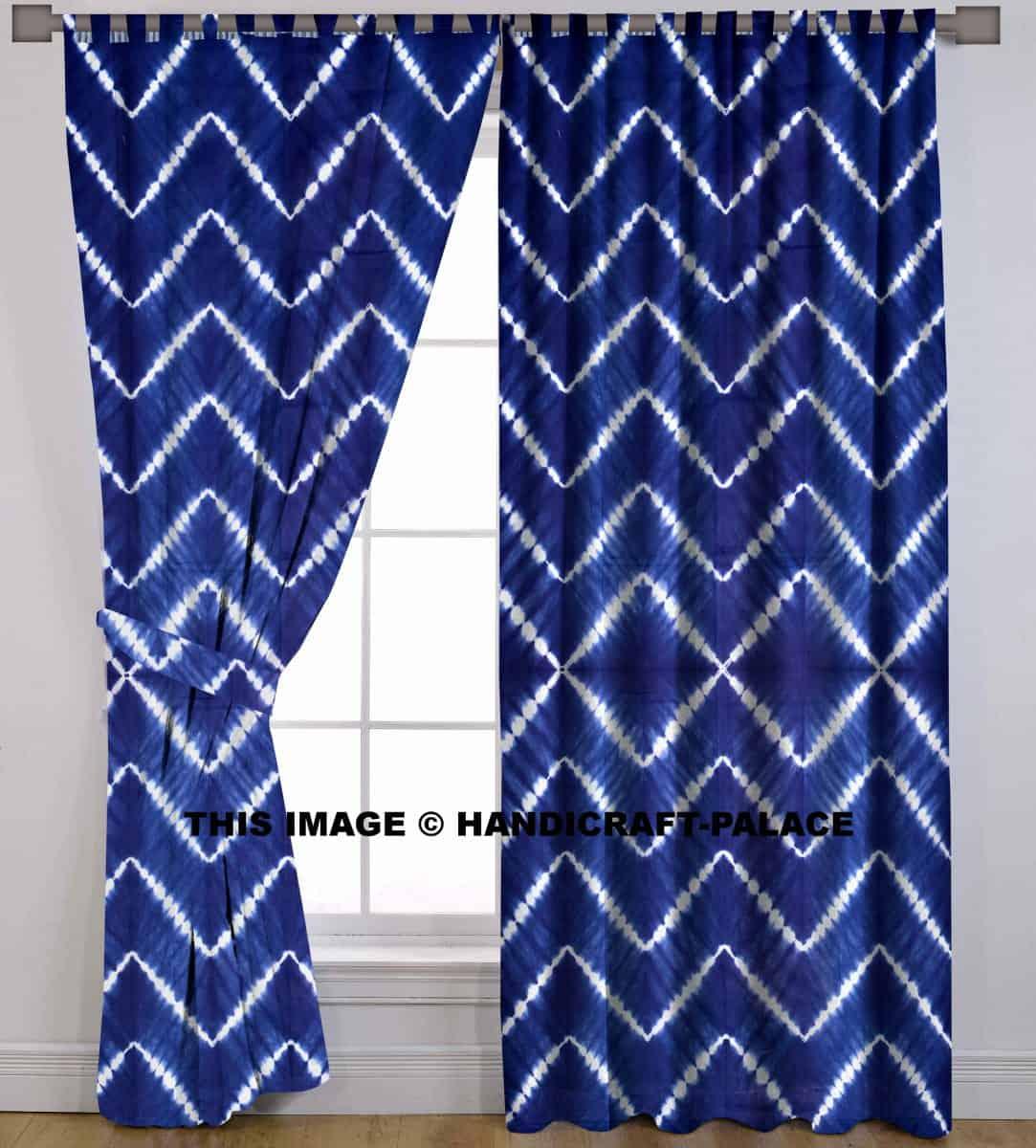 Tie Dye Shibori Cotton Handmade Curtain Handicraft Palace