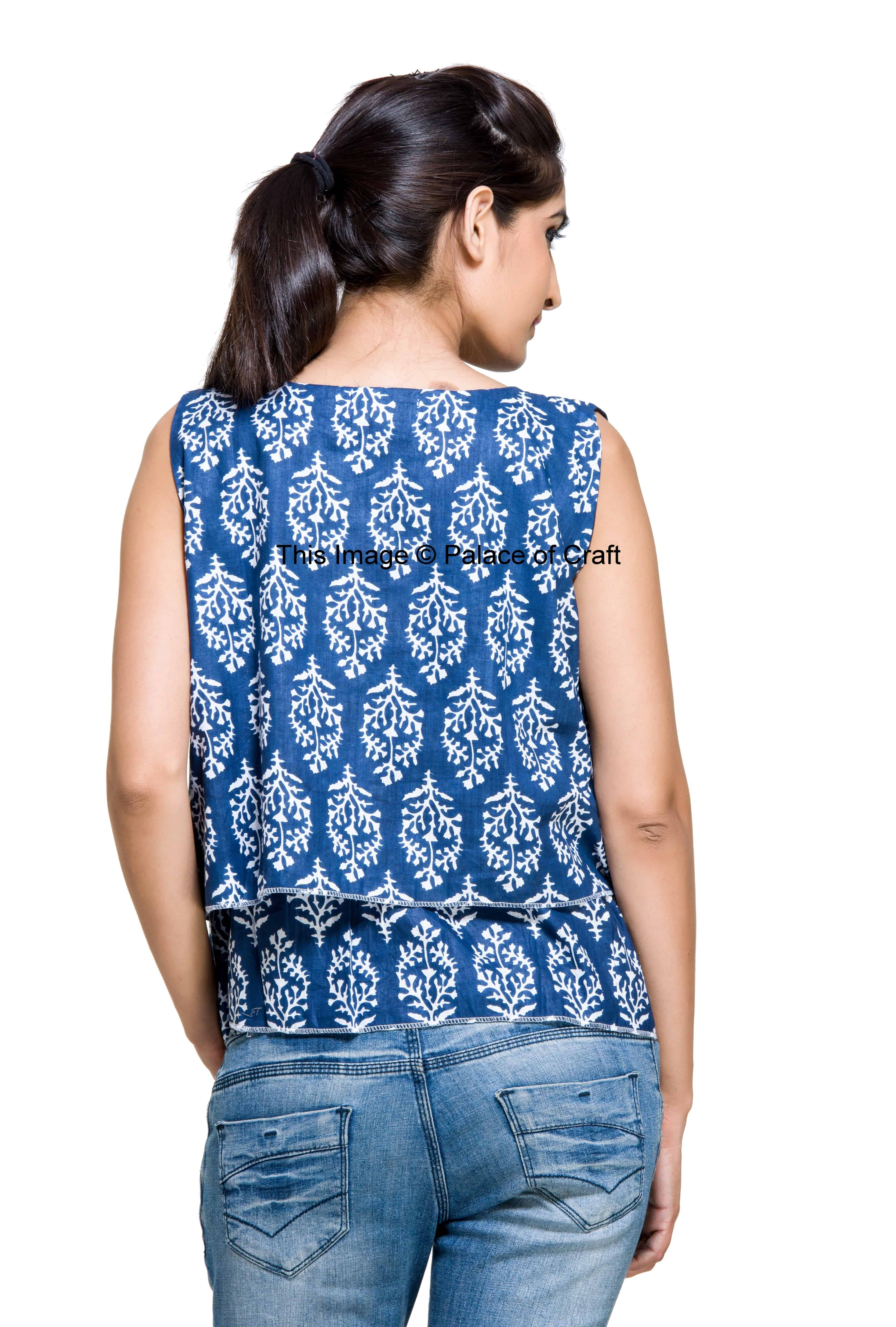 Womens Loose Casual T Shirt Sleeve Less Cotton Crop Tops