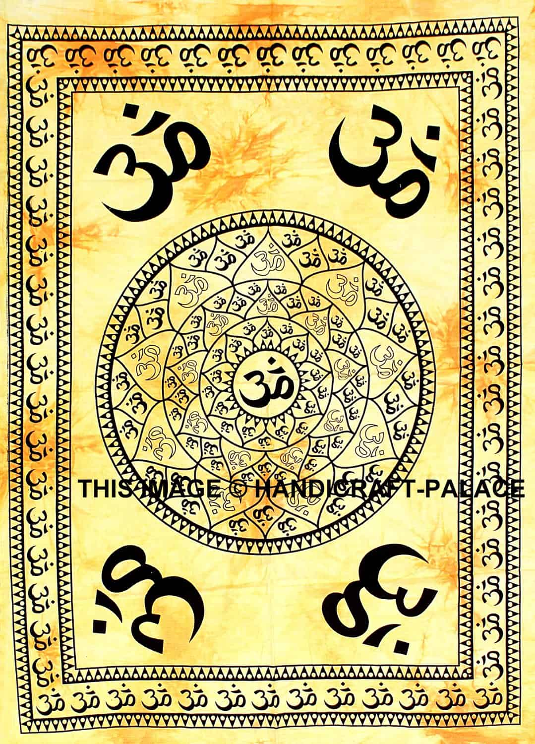 Indian OM Mandala Cotton Poster Size Tapestry Latest Wall Hanging ...