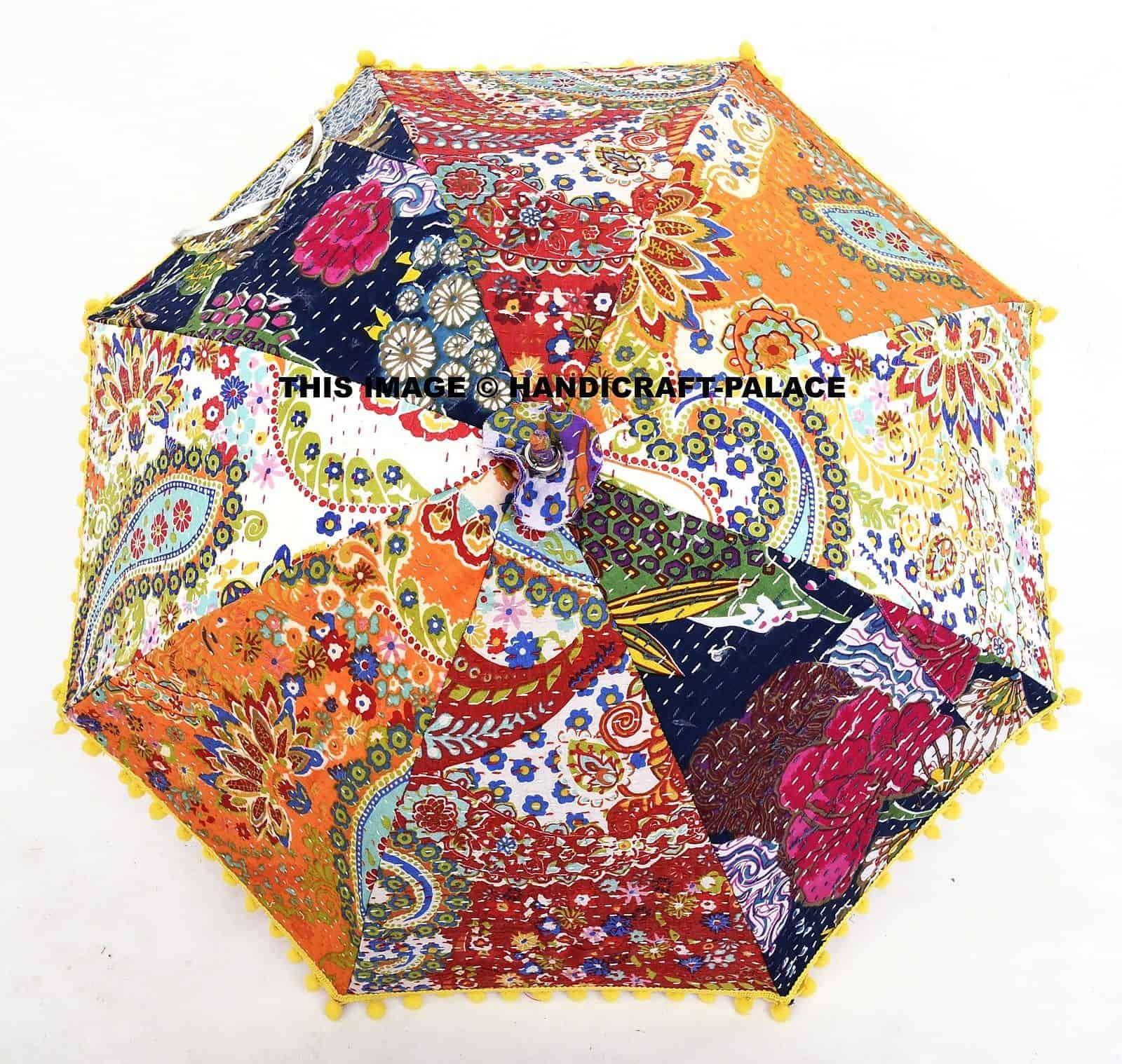 Designer Indian Patchwork Kantha Quilted Paisley Hand