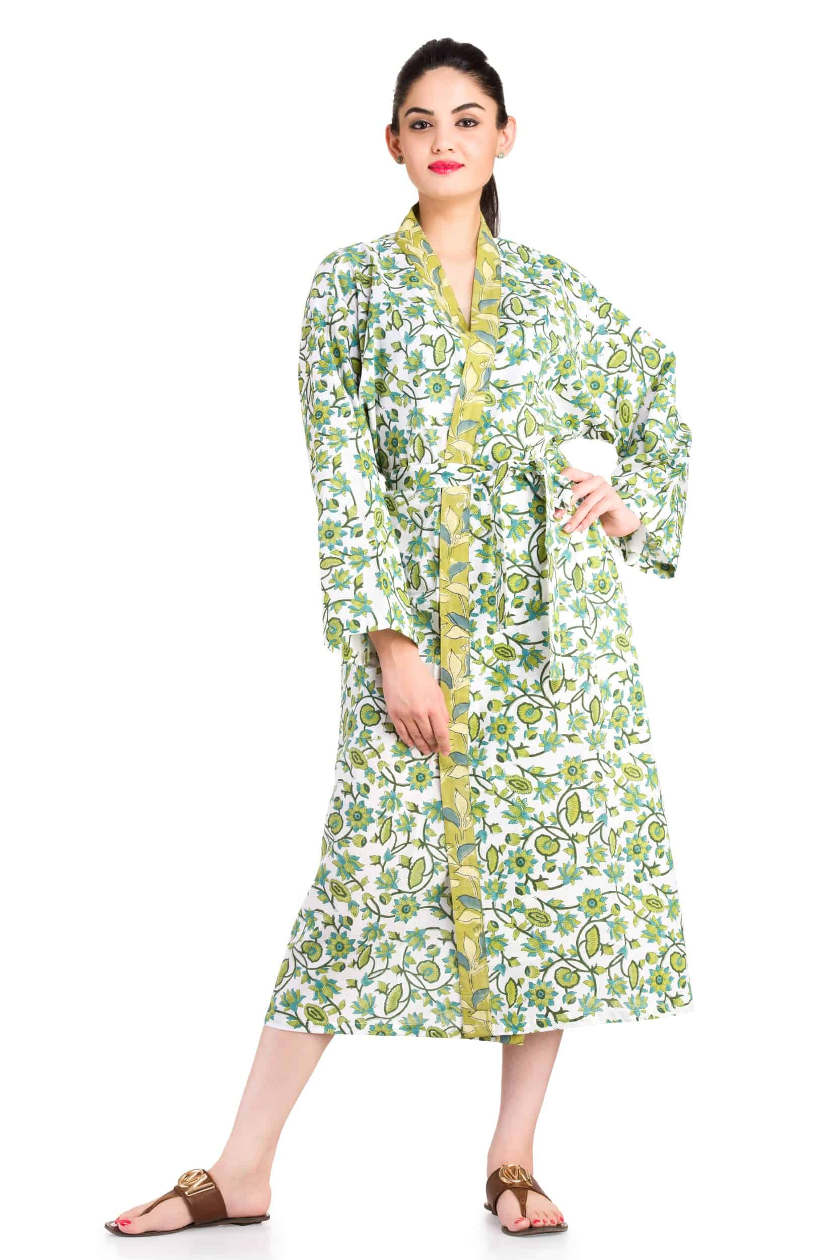 Kimono Block Printed Robes - Handicraft Palace bfc158df8