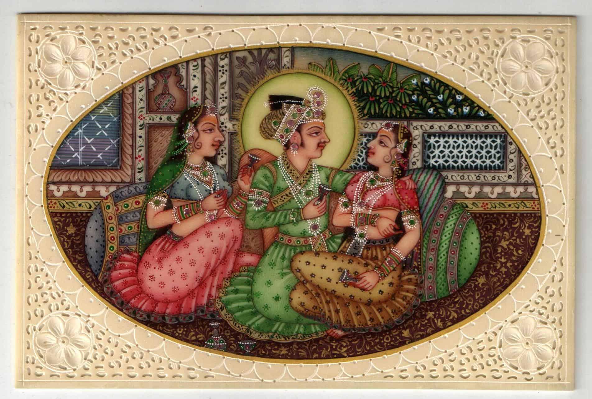 Mughal Prince In Harem Handicraft Palace