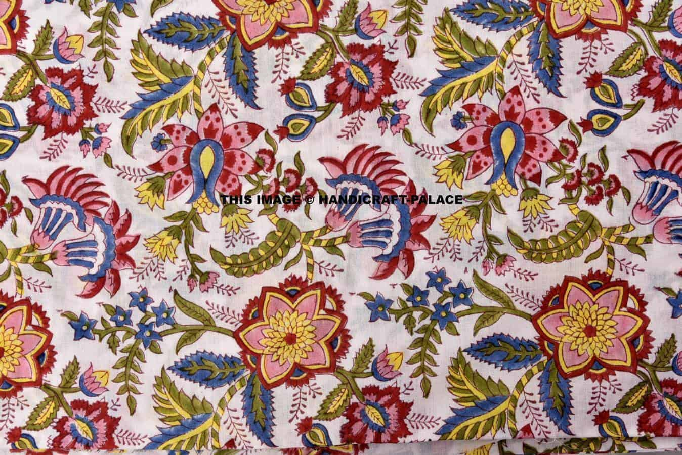 200 Yard Wholesale Lot Indian Hand Block Print Fabric