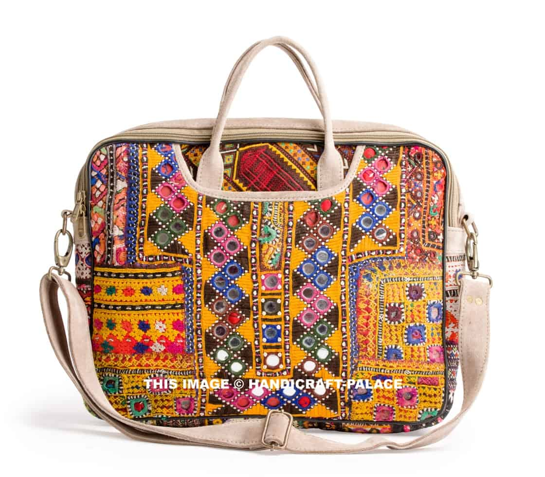 Afghani Embroidered Laptop Bag Handicraft Palace