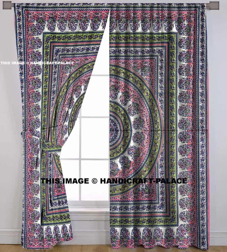 Paisley Mandala Curtain Set Handicraft Palace