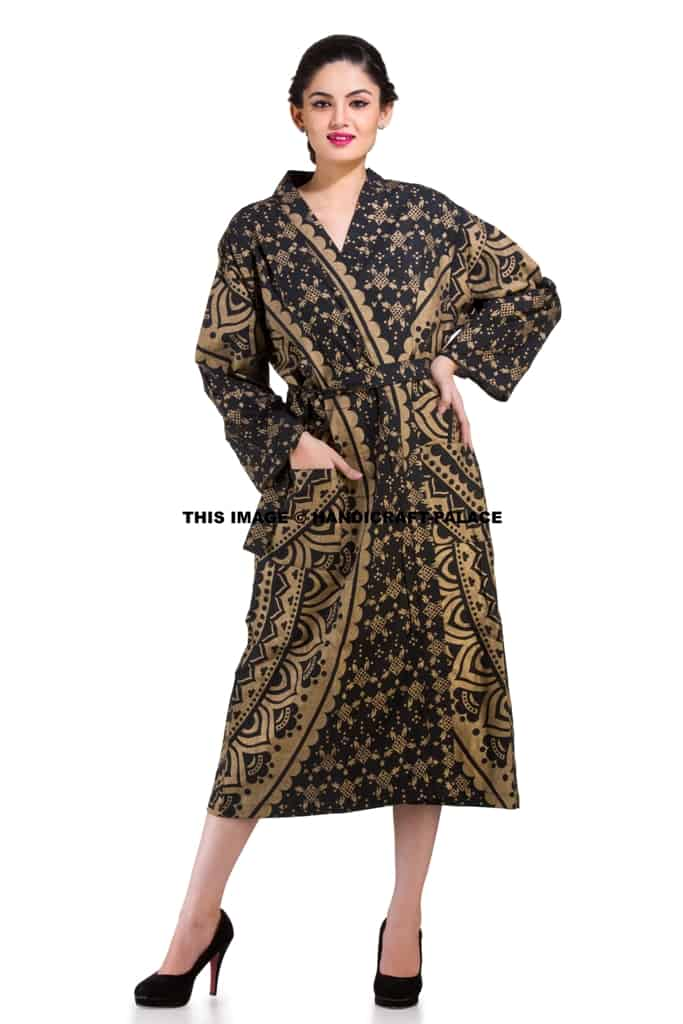 Indian Screen Printed Cotton Robe - Shop Now Women s Clothing 17dfe2ab5