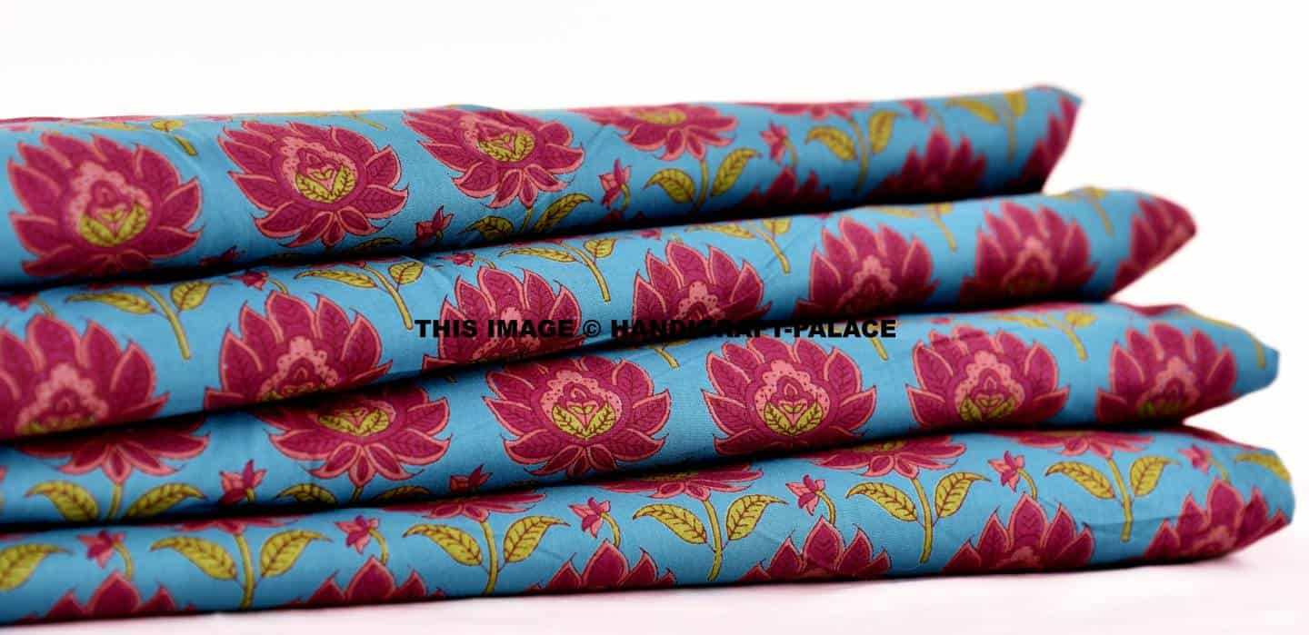 Shop Now Online Floral Hand Screen Printed Craft Material Fabric