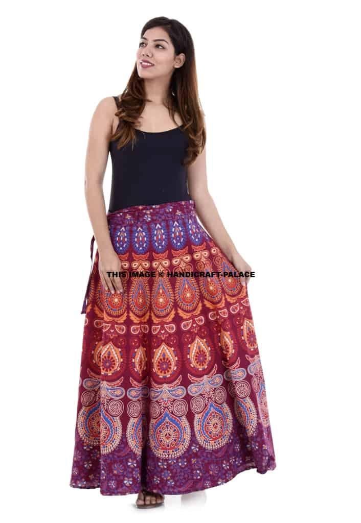 36dd6e5fc9 Hippie Cotton Wrap Around | Traditional Mandala Women's Rapron