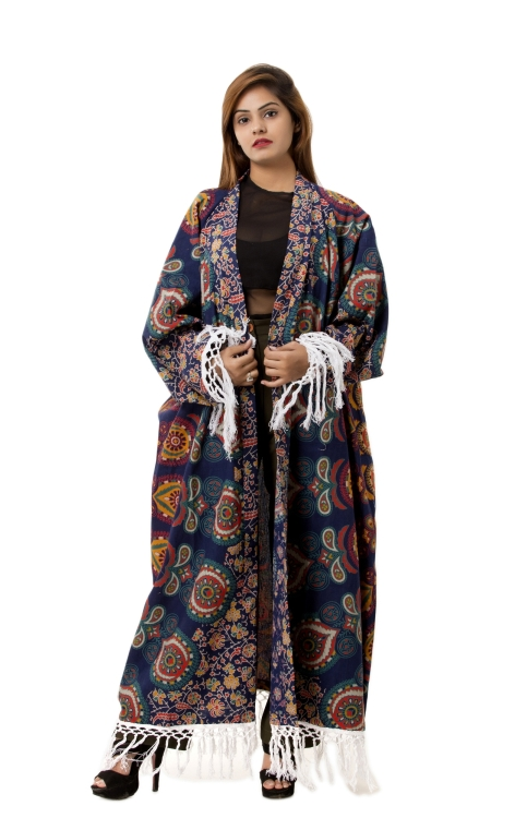 Women/'s Mandala Loose Blouse Summer Boho Cotton Coat Shawl Kimono Cardigan Tops
