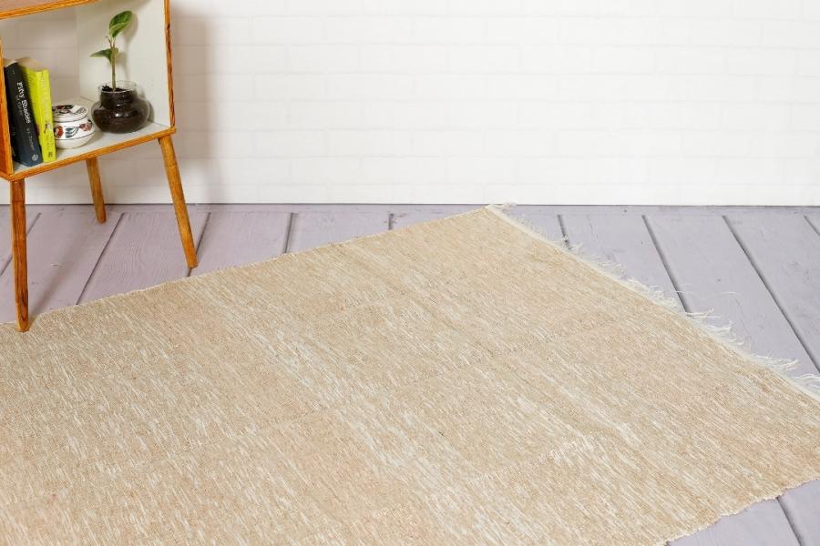Solid Chindi Floor Area Rug Yoga