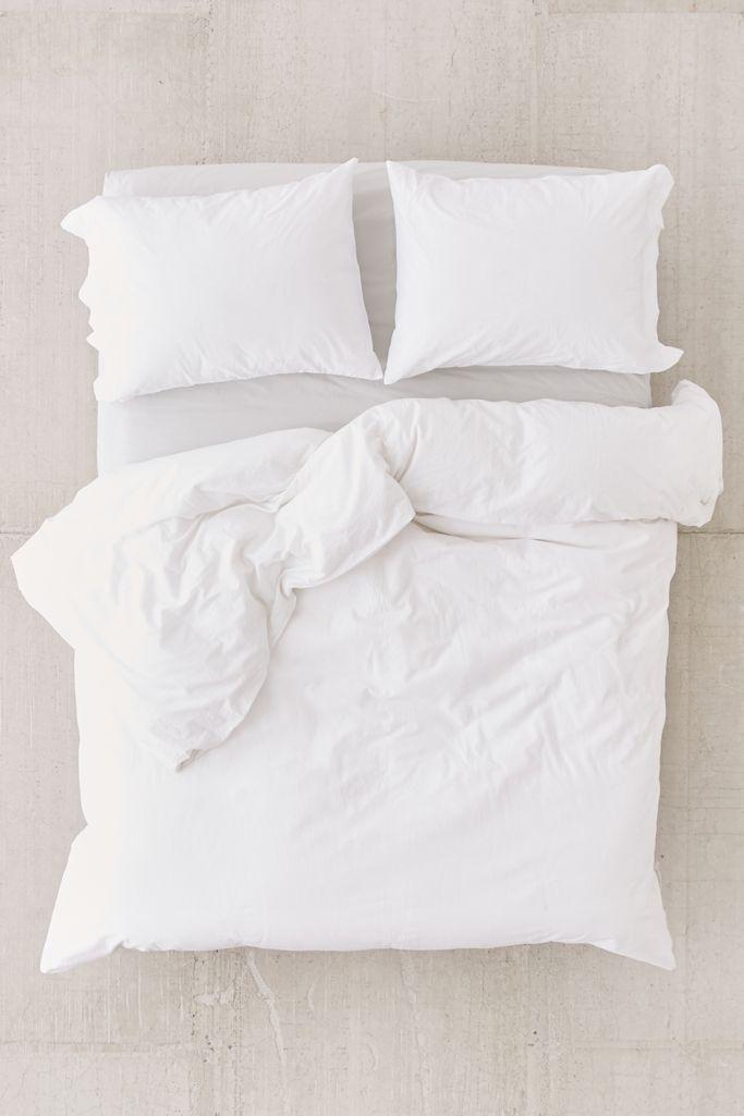3 Pieces Set Washed Cotton Duvet Cover, Boho Bedding Queen Size